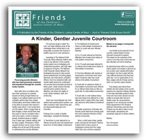Friends of the Children's Justice Center Maui News Supplement